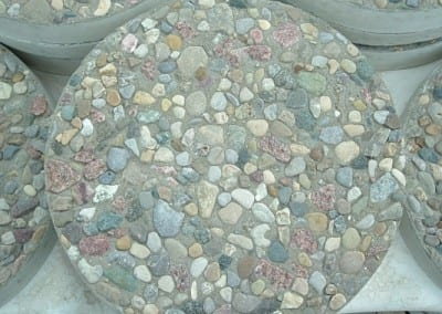 Close up of Exposed Agg Stepping Stone